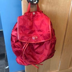 EUC coach mini backpack red